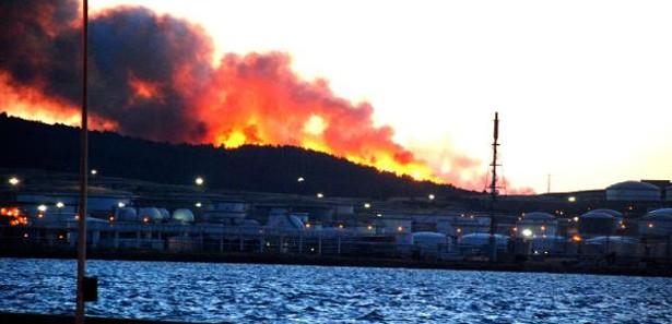 Petkim sahası içinde korkutan yangın!