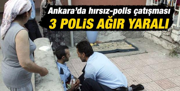 Ankara'da hırsızlar polisle çatıştı