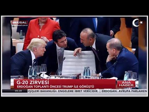 G20 Zirvesi 2017 Erdoğan ve Trump
