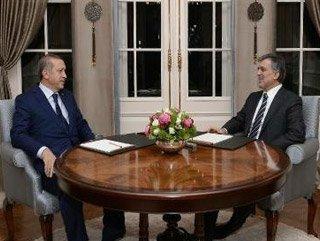 Erdoğan ile Gül Köşk'te görüştü